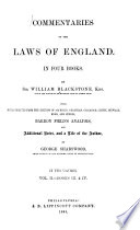 Commentaries on the Laws of England. In Four Books  , Band 2