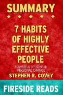 Summary of The 7 Habits of Highly Effective People Book