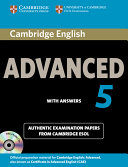 Cambridge English Advanced 5 Self-study Pack (Student's Book with Answers and Audio CDs (2))