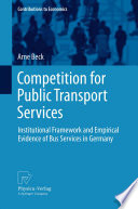 Competition for Public Transport Services Book