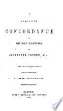 A Complete Concordance to the Holy Scriptures