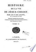 Histoire de la vie de Jésus-Christ