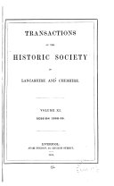 Transactions of the Historic Society of Lancashire and Cheshire