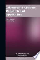 Advances in Atropine Research and Application: 2011 Edition