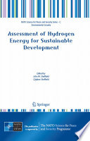 Assessment Of Hydrogen Energy For Sustainable Development Book PDF