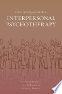 Clinician s Quick Guide to Interpersonal Psychotherapy