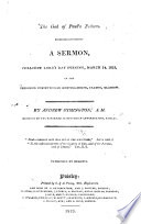 The God Of Paul S Fathers A Sermon Preached March 14 1813 Etc