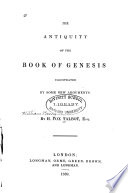 The Antiquity of the Book of Genesis Book