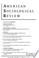 American Sociological Review