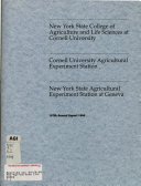 Annual Report of the New York State College of Agriculture and Life Sciences at Cornell University   the Cornell University Agricultural Experiment Station Book