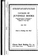 Catalogue of Juvenile Fiction in Chivers  Graded Binding