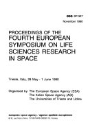 Proceedings of the     European Symposium on Life Sciences Research in Space
