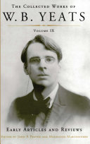 The Collected Works of W.B. Yeats Volume IX: Early Art