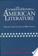The Cambridge History of American Literature  Volume 7  Prose Writing  1940 1990