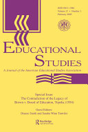 The Contradictions of the Legacy of Brown V. Board of Education, ...