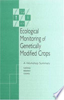 Ecological Monitoring of Genetically Modified Crops Book