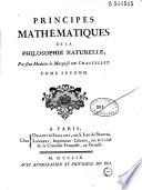 Principes mathématiques de la philosophie naturelle Pdf/ePub eBook