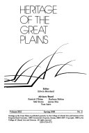 Heritage of the Great Plains Book