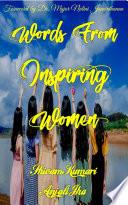 Words From Inspiring Women Book