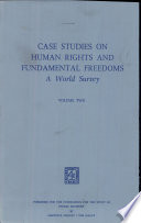 Case Studies on Human Rights and Fundamental Freedoms Volume Two