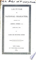 Lecture On National Character