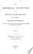 The General Statutes of the State of Michigan