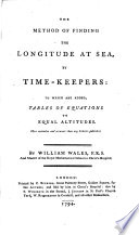 The Method Of Finding The Longitude At Sea