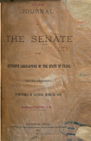 Journal of the Senate of Texas