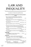Law   Inequality