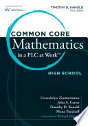 Common Core Mathematics in a PLC at Work         High School