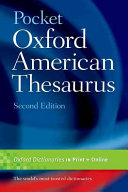 Pocket Oxford American Thesaurus