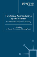 Pdf Functional Approaches to Spanish Syntax Telecharger