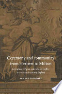 Ceremony and Community from Herbert to Milton Pdf/ePub eBook