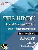 August 2019 Edition of The Hindu Newspaper Based One Liners eBook  English Medium
