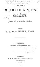 The Merchants  Magazine  Statist and Commercial Review