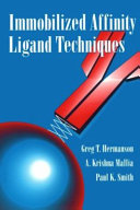 Immobilized Affinity Ligand Techniques Book