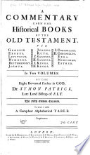 A Commentary Upon the Historical Books of the Old Testament