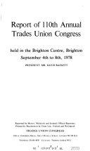 Report of Annual Trades Union Congress