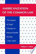 Read Online Americanization of the Common Law Epub