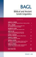 Biblical and Ancient Greek Linguistics  Volume 7