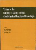 Tables of the SU mn   conditional  SU m  X SU n