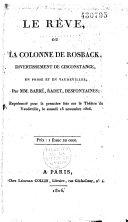 Le rêve, ou la colonne de Rosback