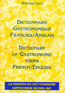 Dictionary of gastronomic terms, French/English
