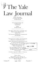 The Yale Law Journal Book PDF
