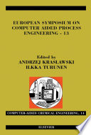 European Symposium On Computer Aided Process Engineering 13 Book PDF