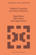 Algorithms: Main Ideas and Applications Pdf/ePub eBook