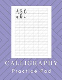 Calligraphy Practice Pad  Hand Lettering Work Book   160 Sheet Pad