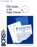 CRS Studies in the Public Domain Book