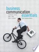 Business Communication Essentials, Third Canadian Edition,