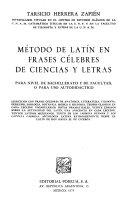 Método de latín en frases célebres de ciencias y letras